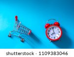 time to shopping. top view of... | Shutterstock . vector #1109383046