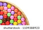 colorful of candy in wooden... | Shutterstock . vector #1109388923