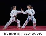 children are training karate... | Shutterstock . vector #1109393060