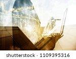 financial data in term of a... | Shutterstock . vector #1109395316