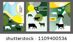 agricultural brochure layout... | Shutterstock .eps vector #1109400536