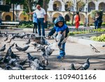 guatemala   march 31   kid with ... | Shutterstock . vector #1109401166