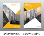 annual report brochure flyer... | Shutterstock .eps vector #1109402843