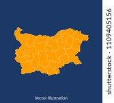 bulgaria map   high detailed... | Shutterstock .eps vector #1109405156