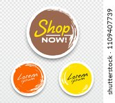 vector tag label circle brush... | Shutterstock .eps vector #1109407739