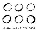 hand drawn circle set. vector... | Shutterstock .eps vector #1109410454