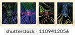 digital marble cover design for ... | Shutterstock .eps vector #1109412056