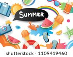 summer cute symbol icon... | Shutterstock .eps vector #1109419460