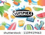 summer cute symbol icon... | Shutterstock .eps vector #1109419463