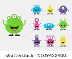cool  fun  cute creature  ... | Shutterstock .eps vector #1109422400