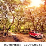 beautiful landscape with red... | Shutterstock . vector #1109425358