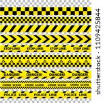 black and yellow police stripe... | Shutterstock .eps vector #1109425844