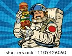 mustachioed astronaut with... | Shutterstock .eps vector #1109426060