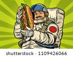 moustached astronaut with a... | Shutterstock .eps vector #1109426066
