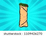 shawarma kebab doner. pop art... | Shutterstock .eps vector #1109426270