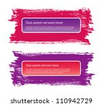 vector stickers banners on a... | Shutterstock .eps vector #110942729
