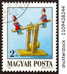 hungary   circa 1988  a stamp... | Shutterstock . vector #1109428244