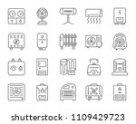 hvac thin line icons set.... | Shutterstock .eps vector #1109429723
