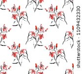 elegant seamless pattern with... | Shutterstock . vector #1109432330