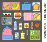 set of hand drawn colored... | Shutterstock .eps vector #1109432900