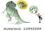 man training tyrannosaurus rex... | Shutterstock .eps vector #1109433509