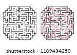 abstract maze   labyrinth with...   Shutterstock .eps vector #1109434250