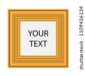 realistic picture frame... | Shutterstock .eps vector #1109436134