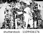 old grunge ripped torn vintage... | Shutterstock . vector #1109436176