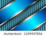 background blue 3d over... | Shutterstock .eps vector #1109437856