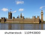 houses of parliament and big... | Shutterstock . vector #110943800