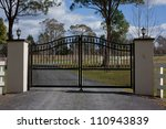 Black Wrought Iron Entrance...