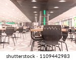 modern interior of cafeteria or ... | Shutterstock . vector #1109442983
