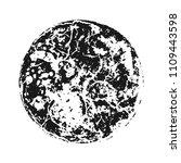 black grainy texture round... | Shutterstock .eps vector #1109443598