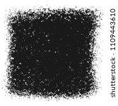 black grainy texture isolated... | Shutterstock .eps vector #1109443610