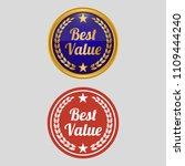 best value label on white... | Shutterstock .eps vector #1109444240