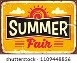 summer fair retro tin sign... | Shutterstock .eps vector #1109448836