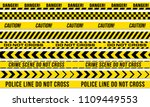 black and yellow stripes vector ... | Shutterstock .eps vector #1109449553
