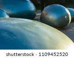 beautiful oval turquoise rain... | Shutterstock . vector #1109452520