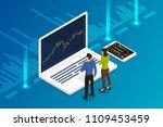 flat design concept stock... | Shutterstock .eps vector #1109453459