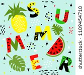 trendy seamless  memphis style... | Shutterstock .eps vector #1109454710