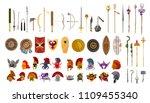 videogame weapons helmets...   Shutterstock .eps vector #1109455340