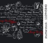 Christmas Background   Hand...