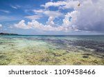 beautiful view in cancun ... | Shutterstock . vector #1109458466