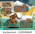 videogame ui customize samurai...