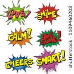 set of colorful speech bubbles... | Shutterstock .eps vector #1109460203