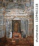 Small photo of Goddess Durga Idol inside Panchalingeshwara Temple, Govindanahalli, Mandya district, Karnataka state, India. It was constructed around 1238 A.D.