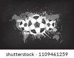 grunge abstract football... | Shutterstock .eps vector #1109461259