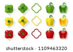 set of green  yellow  red... | Shutterstock .eps vector #1109463320