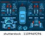 car service. scanning.... | Shutterstock .eps vector #1109469296