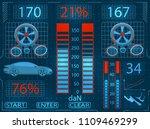 car service. scanning.... | Shutterstock .eps vector #1109469299